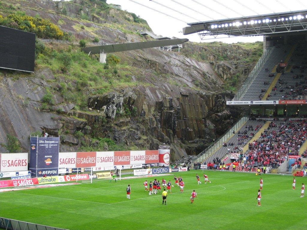 Stade municipal Braga falaise