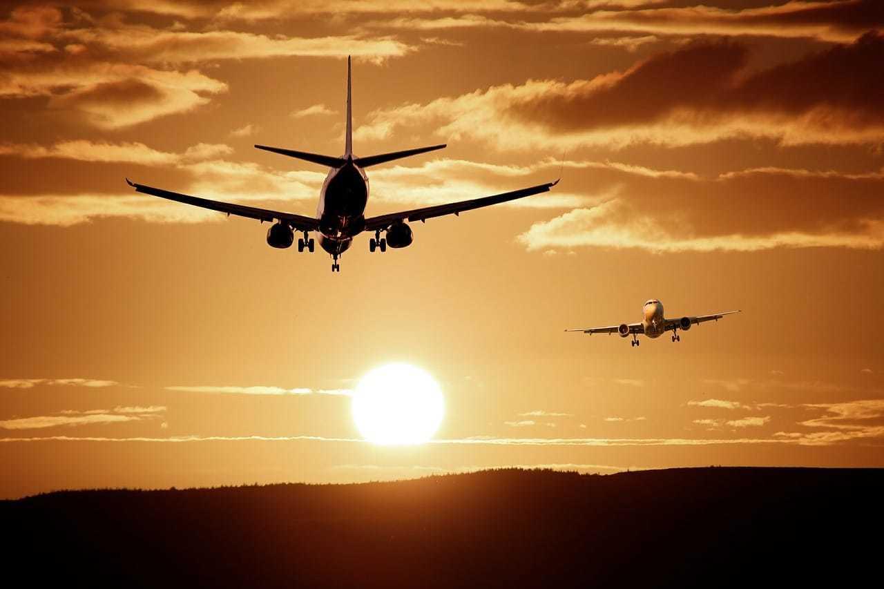 avion couché de soleil jet lag