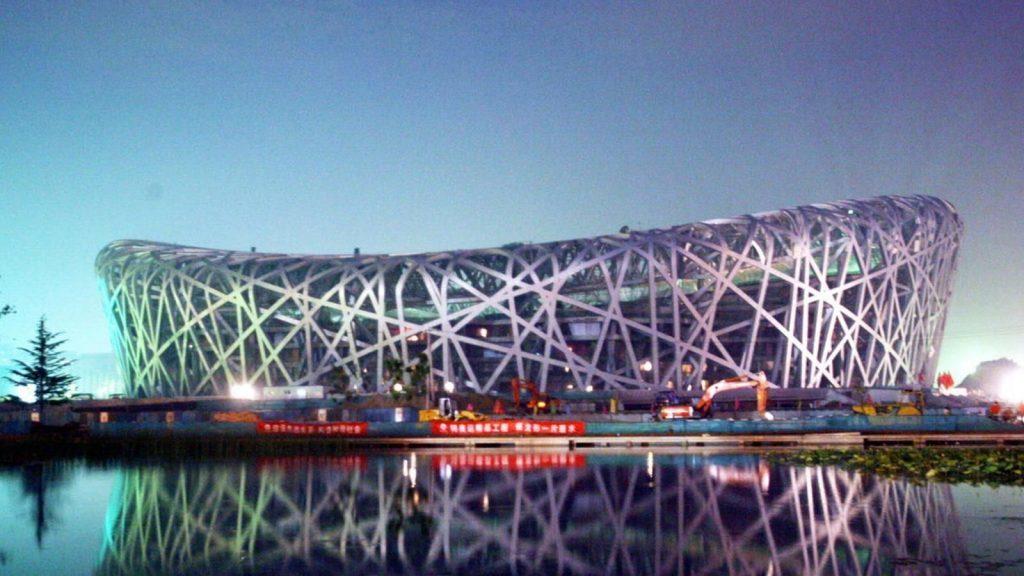 Stade national de Pékin, aussi appelé Nid d'oiseau,pour les JO 2008