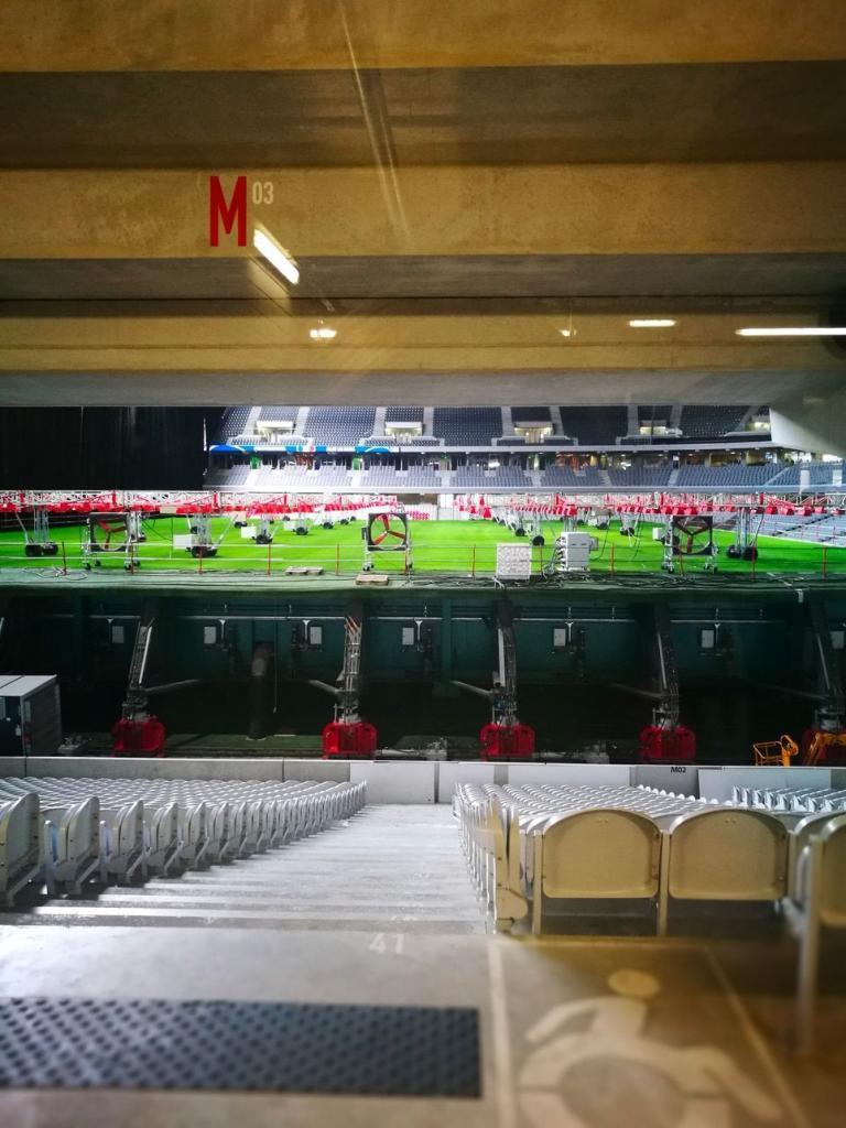 Le stade Pierre Mauroy et sa pelouse rétractable